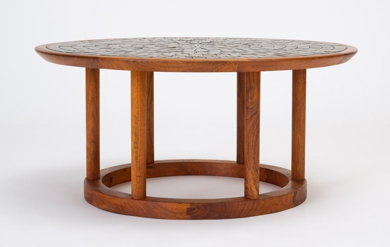 Gordon & Jane Martz Round Coffee or Occasional Table for Marshall Studios For Sale 3