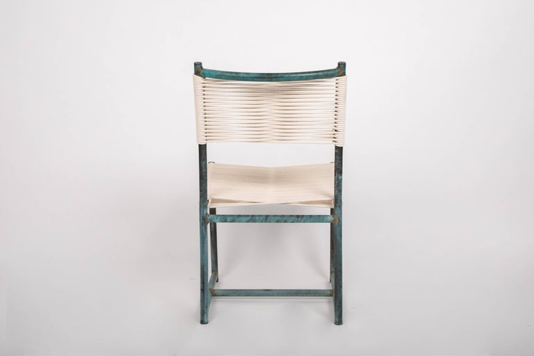 Set of Six Early Model Bronze Patio Dining Chairs by Walter Lamb In Excellent Condition For Sale In Los Angeles, CA