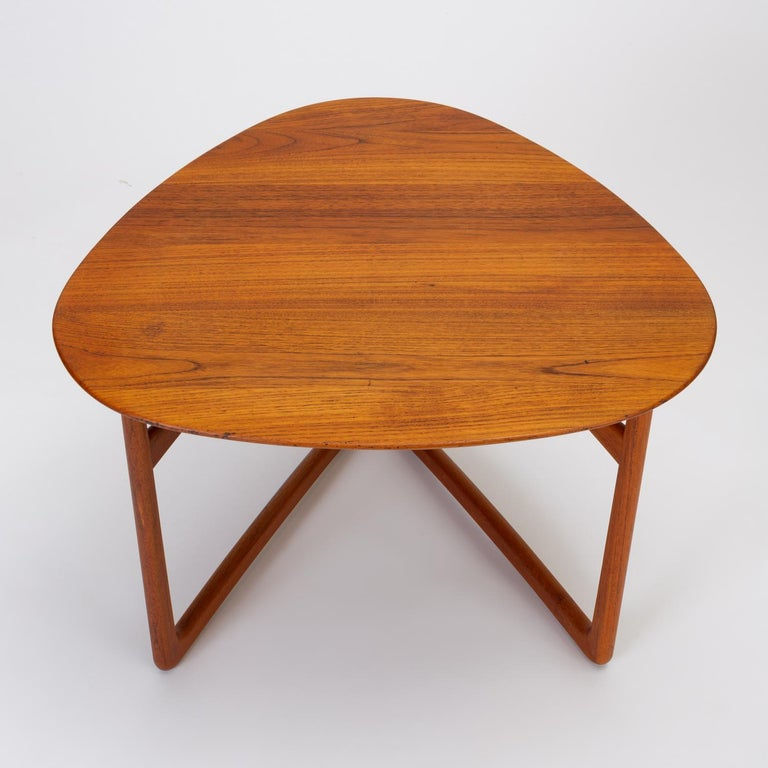 Trilateral Folding Side Table by Peter Hvidt and Orla Mølgaard-Nielsen For Sale 2