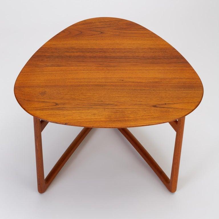 Trilateral Folding Side Table by Peter Hvidt and Orla Mølgaard-Nielsen For Sale 3