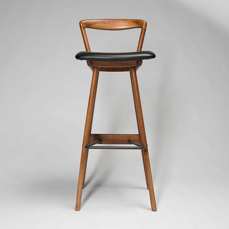 Mid century modern teak barstools by rosengren hansen for for Mid 20th century furniture