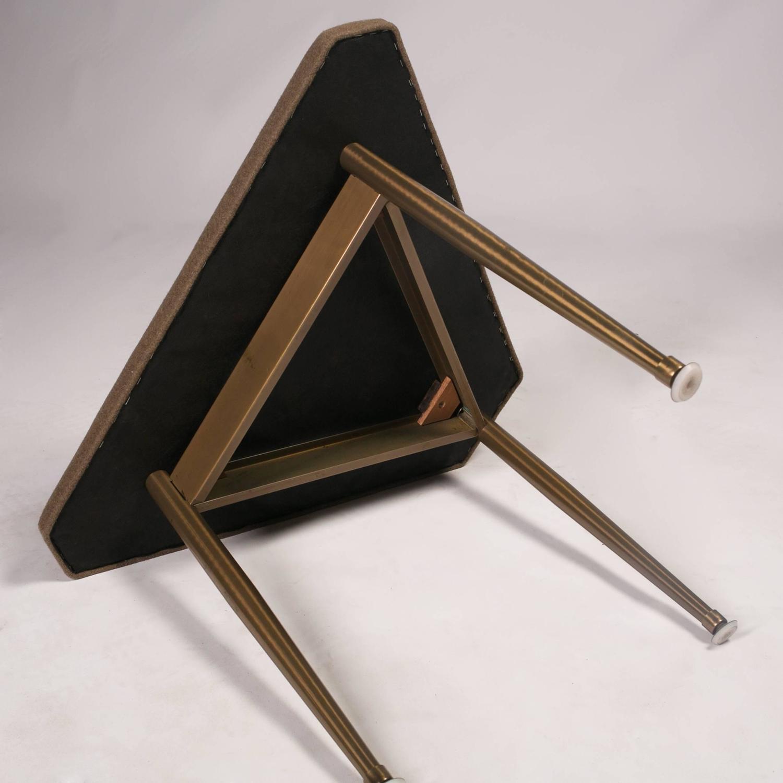 mid century modern tripod vanity stool at 1stdibs