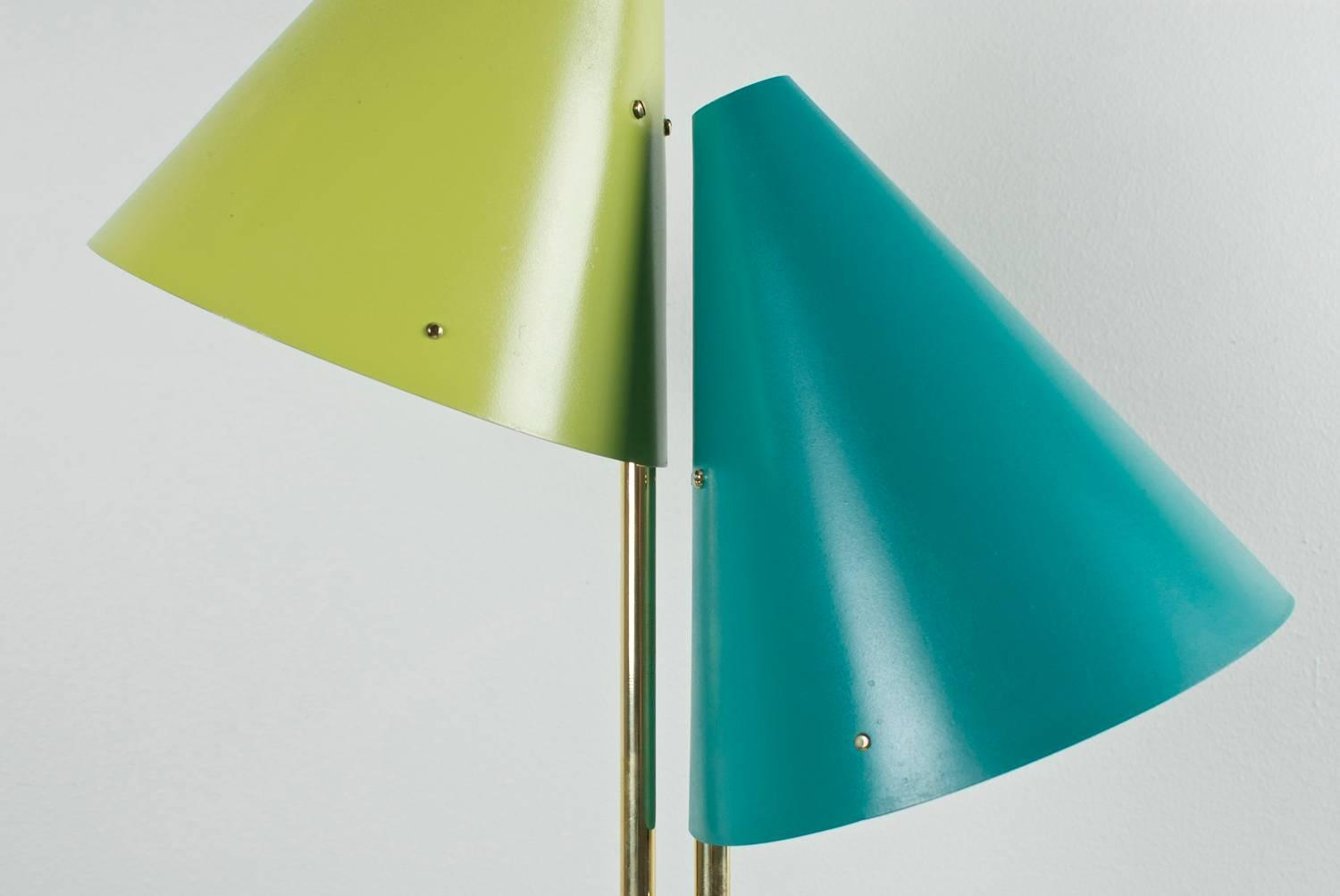 Svend Aage Holm S 248 Rensen Table Lamp In Brass And Aluminium