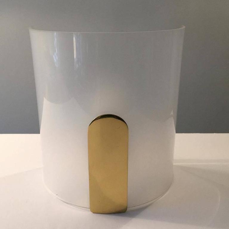 Metalarte Wall Sconce in Brass and Plexiglass, Spain at 1stdibs