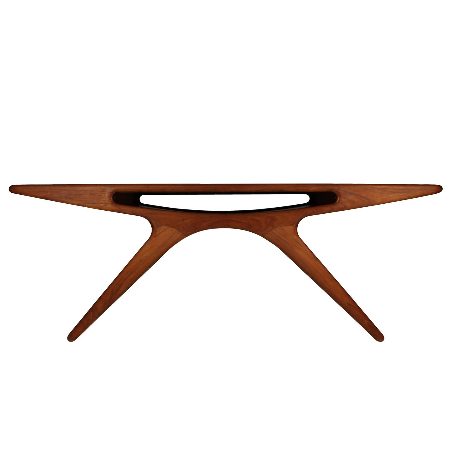 Johannes Andersen Teak Smile Coffee Table Denmark 1957 at 1stdibs