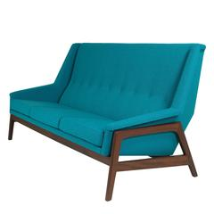 Hovmand Olsen Teak Lounge Sofa Danish Mid-Century Design, 1960s