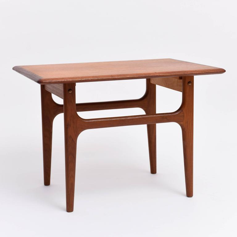 Charles Modern 47 Square Glass Top Coffee Table W: Mid-Century Modern Teak Coffee/Sofa Table Scandinavia