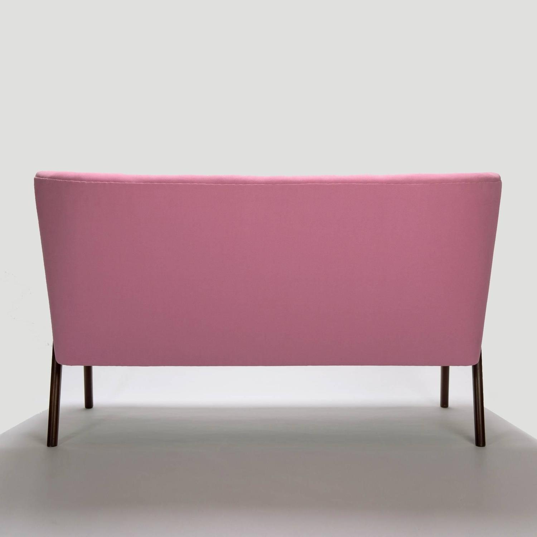 Pink cocktail sofa swedish mid century modern design for Pink sofa login