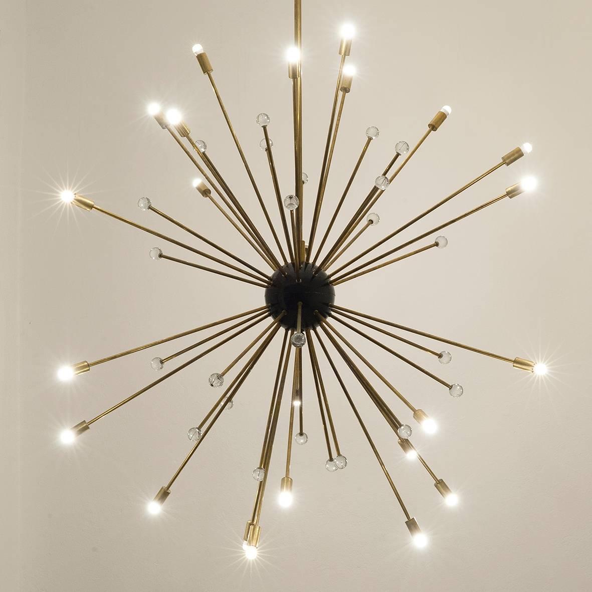 Sputnik chandelier in the style of italian stilnovo at 1stdibs - Lights and chandeliers ...