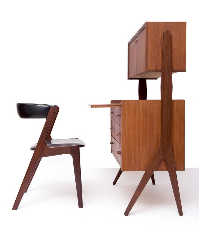 danish modern secretary desk toronto organic teak mid century for sale
