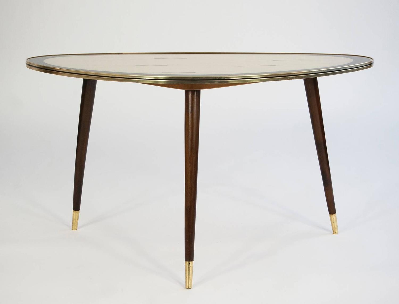 Brass Coffee Table Very Rare Mid Century Modern Design