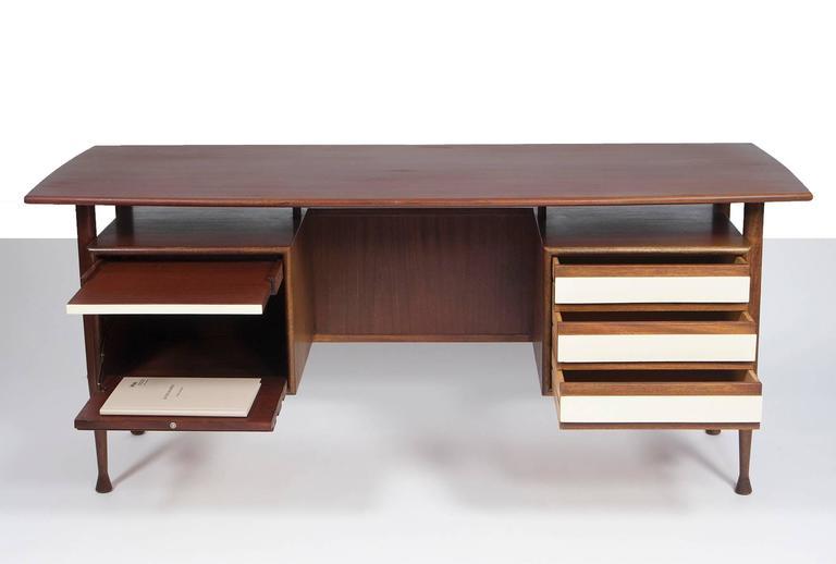 mahogany desk mid century modern design german 1960s at 1stdibs