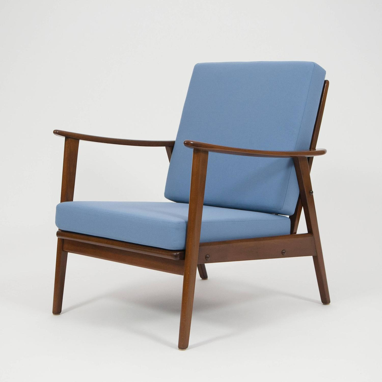pair of mid century modern easy chairs germany 1960 for sale at 1stdibs. Black Bedroom Furniture Sets. Home Design Ideas