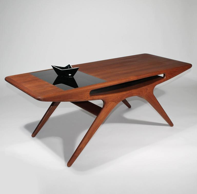 Johannes Andersen Teak Smile Coffee Table Denmark