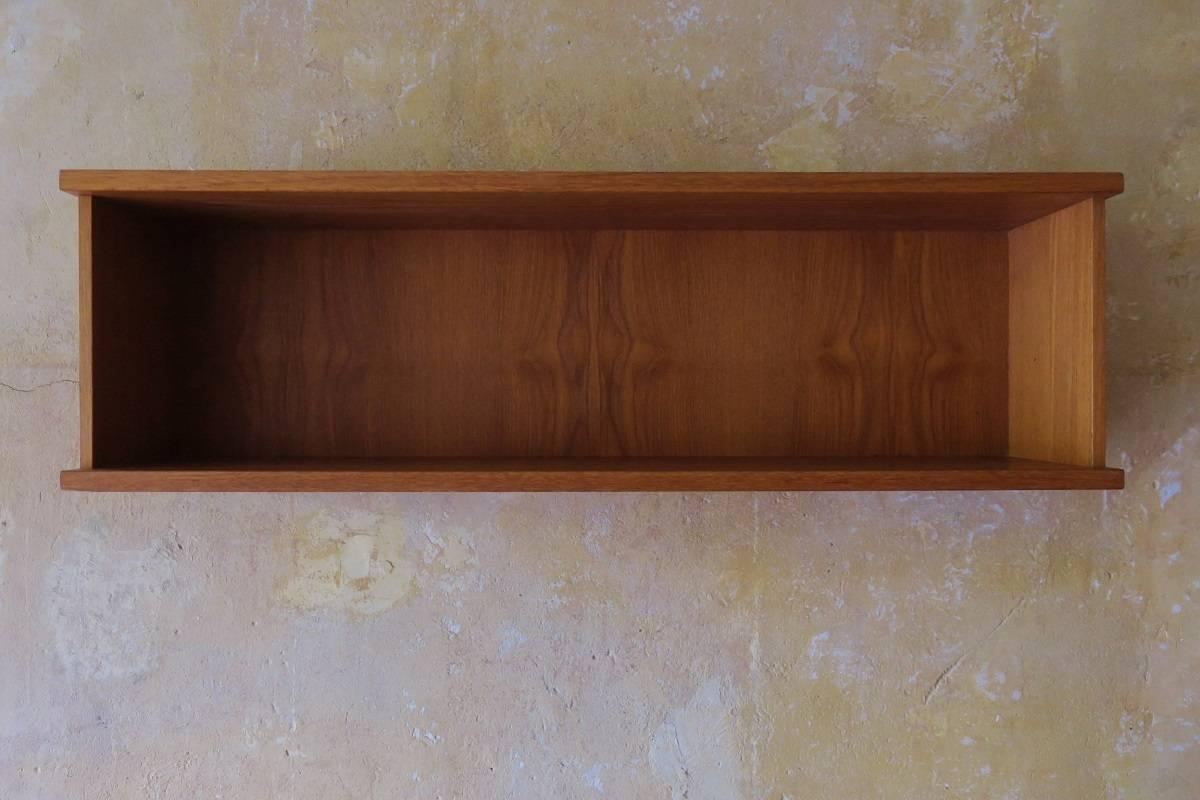 basic cabinets teak floating shelf denmark 1960s for at 1stdibs 10961