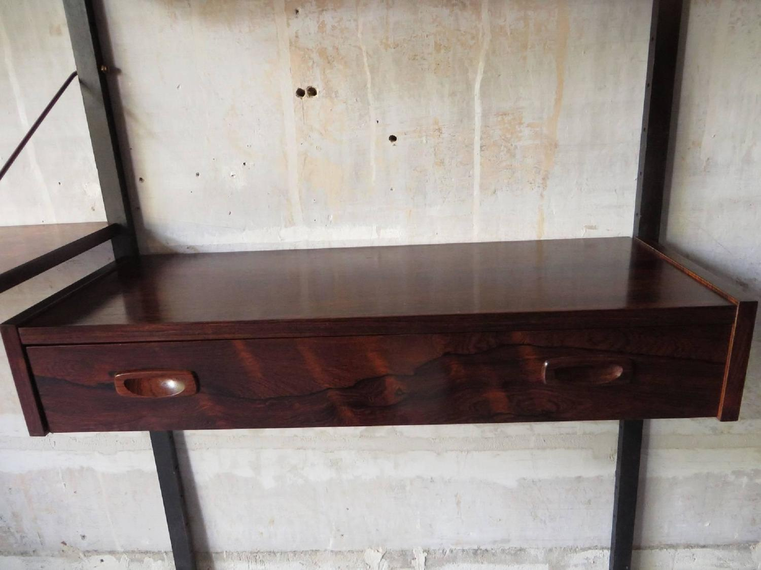 Poul cadovius rosewood wall unit 1960s at 1stdibs for Furniture 30cm deep