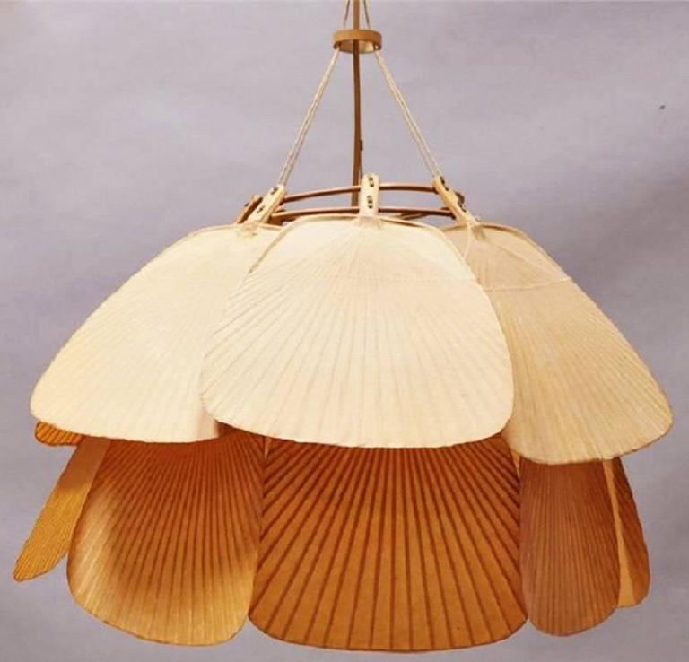 Perfect Ingo Maurer Uchiwa Pendant / Chandelier Rice Paper and Bamboo at  VM51