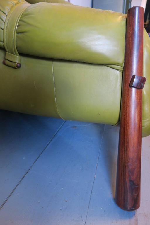Dreisitzer-Sofa aus Palisanderholz und Leder von Percival Lafer, Brasilien, 1974 3