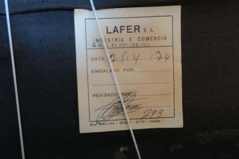 Dreisitzer-Sofa aus Palisanderholz und Leder von Percival Lafer, Brasilien, 1974 5