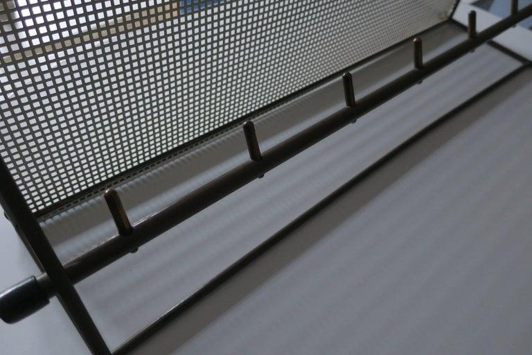 Perforated Metal Coat Rack Mid-Century In Good Condition For Sale In Berlin, DE