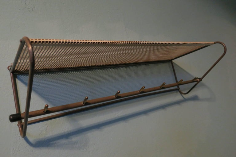 Perforated Metal Coat Rack Mid-Century For Sale 1