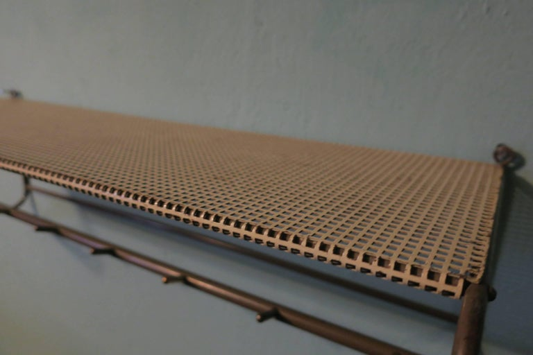Perforated Metal Coat Rack Mid-Century For Sale 2