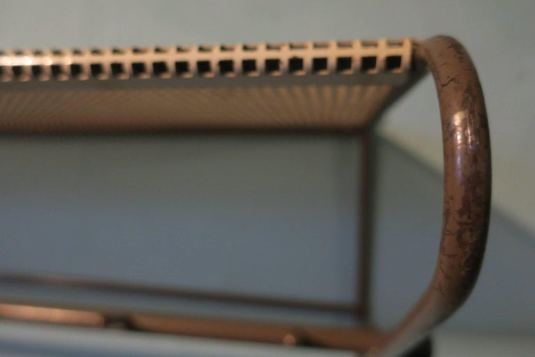 Perforated Metal Coat Rack Mid-Century For Sale 3