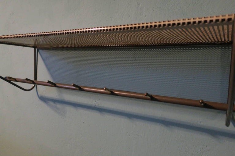 Perforated Metal Coat Rack Mid-Century For Sale 4