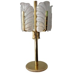 Rare Carl Fagerlund for Orrefors Acanthus Leaf Table Lamp