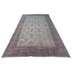 Very Large Antique Light Persian Khorassan Carpet, 1890