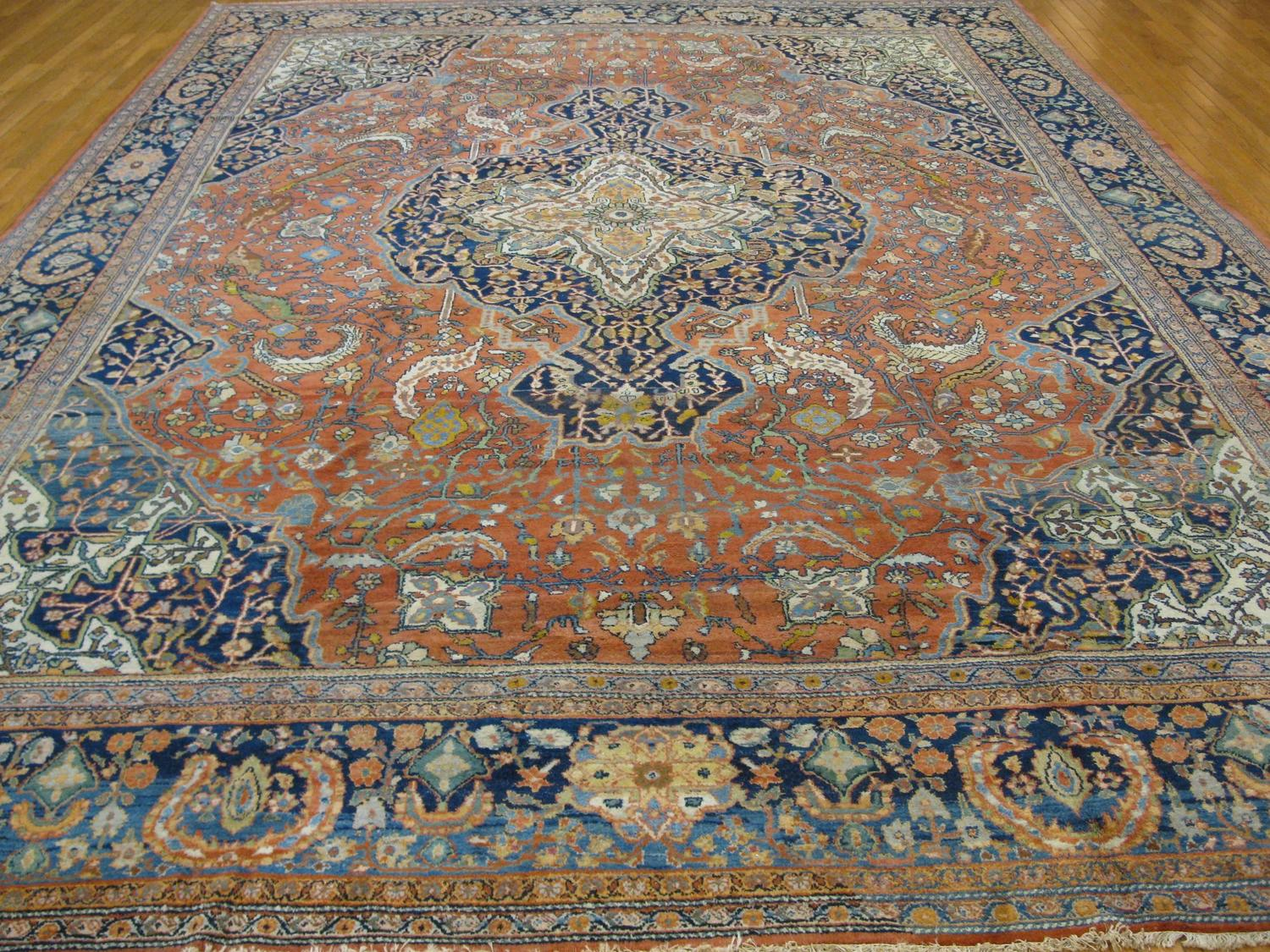 Large Room Size Antique Persian Sarouk Farahan Rug For