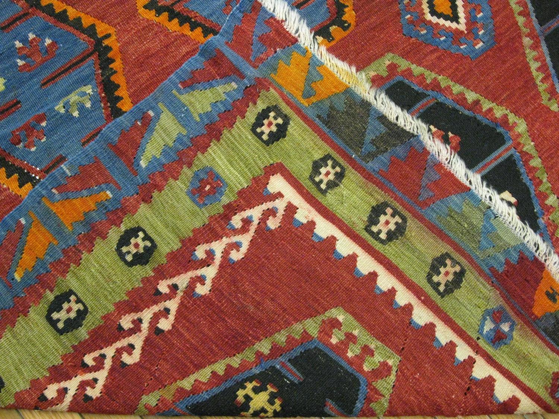 Vintage Tribal Design Kilim Rug For Sale At 1stdibs