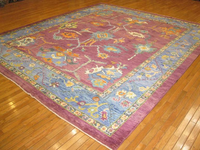 Room Size Hand Knotted Oushak Rug For Sale At 1stdibs