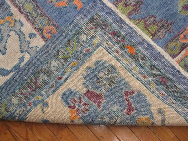 Large Hand Knotted Turkish Oushak Rug For Sale At 1stdibs