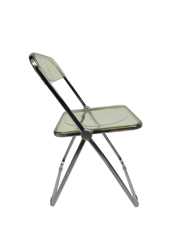 Mid Century Lucite Acrylic 'Plia' Folding Chair at 1stdibs