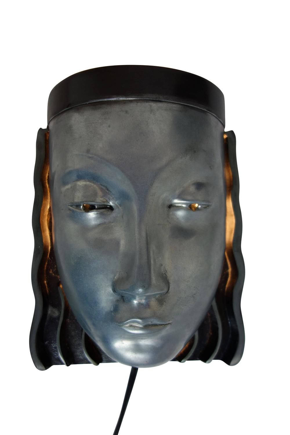 Art Deco Style Egyptian Princess Wall Sconce For Sale at 1stdibs