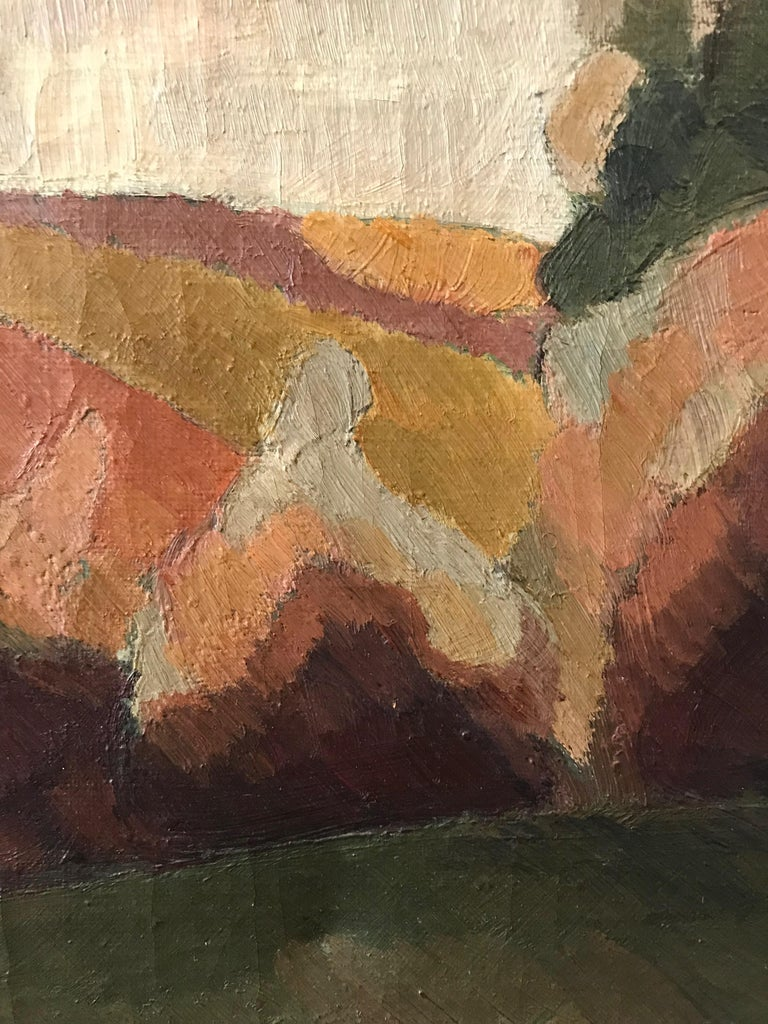 20th Century French Countryside Landscape Oil on Canvas Signed a Krüger For Sale