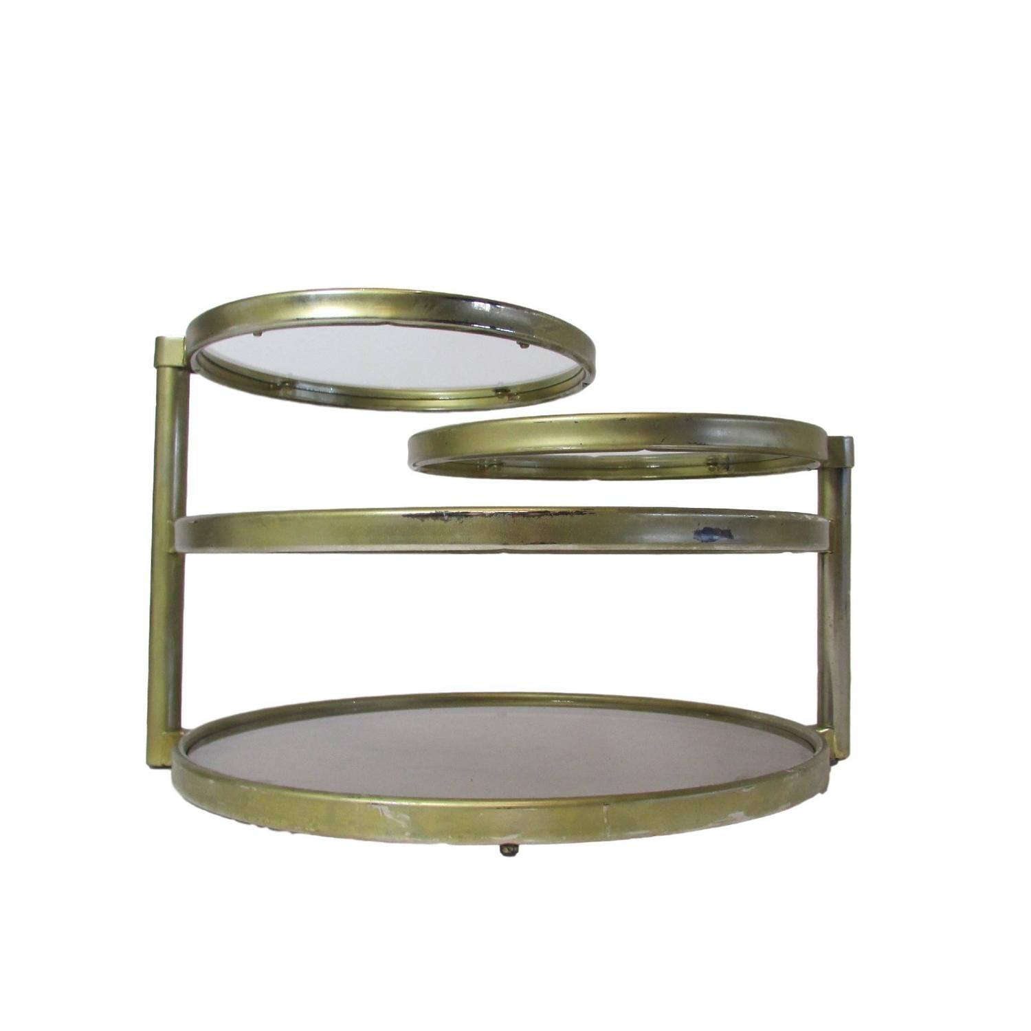 Circular Four Tiered Swivel Coffee Table At 1stdibs