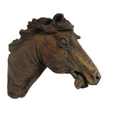 Early 20th Century Carved Horse Head