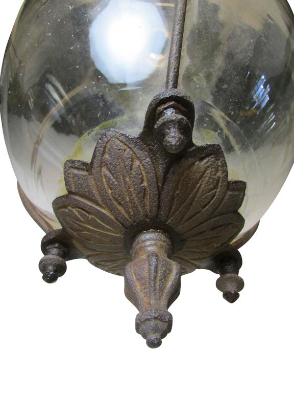 Late 19th Century Pair of Drugstore Glass Show Globes