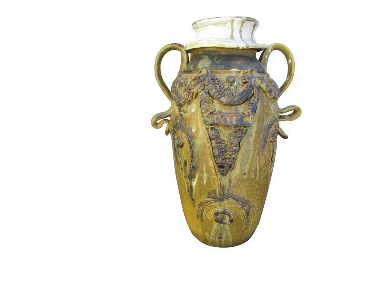 """Midcentury Ceramic """"Pot"""" Vase 3"""