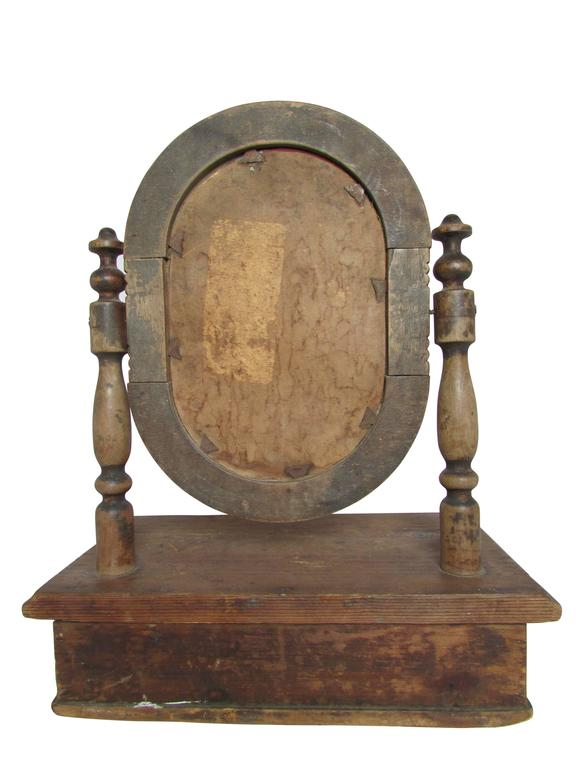 19th Century French Vanity Mirror with Drawer For Sale 1
