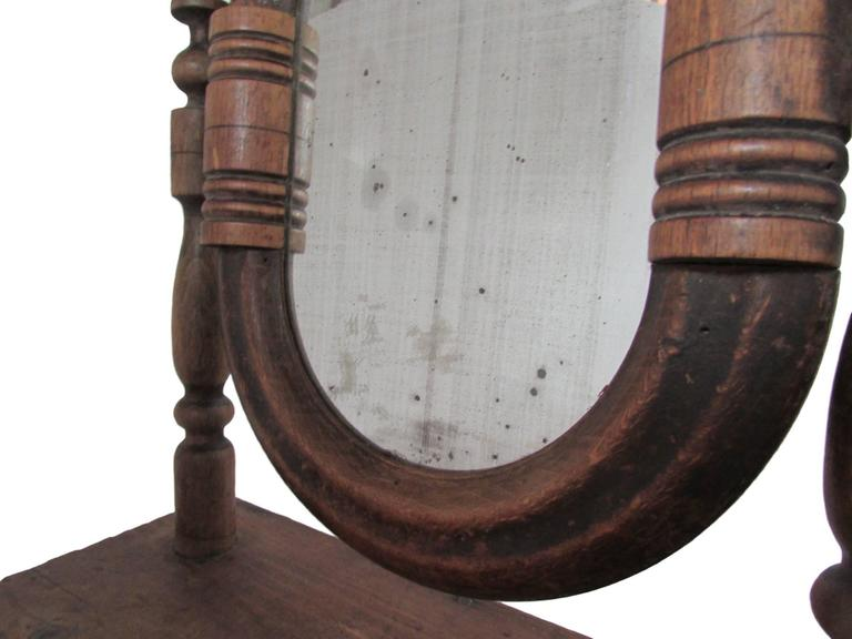 19th Century French Vanity Mirror with Drawer For Sale 2