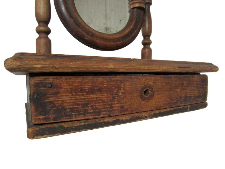 19th Century French Vanity Mirror with Drawer For Sale 3
