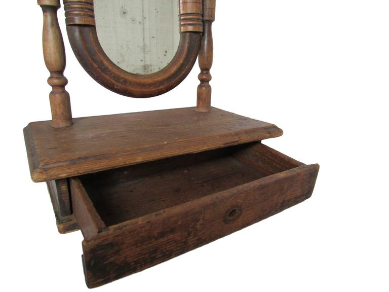 19th Century French Vanity Mirror with Drawer For Sale 4