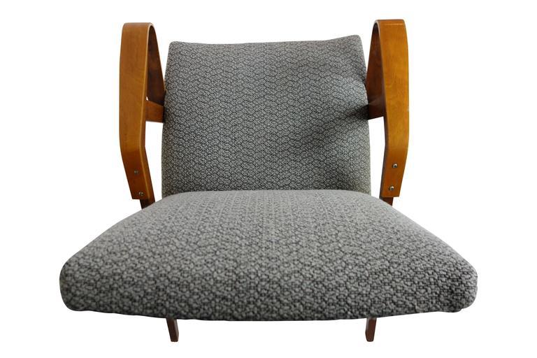 Pair of Bentwood Czech Tatra Nabytok Chairs, circa 1950 For Sale 2