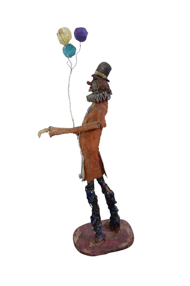 Painted papier m ch clown sculpture for sale at 1stdibs for Papier mache art for sale