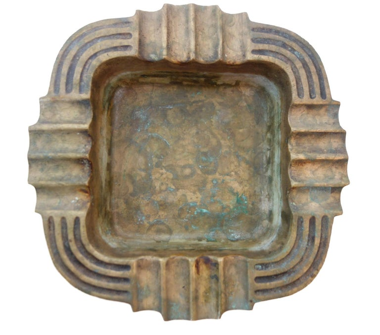 Heavy Bronze Art Deco Ashtray For Sale At 1stdibs