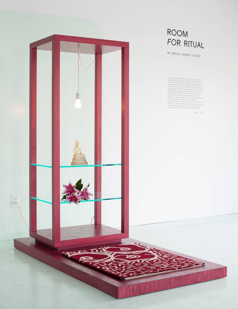 Room for Ritual, Meditation Shrine with Shelves, Tatami Mat and Handmade Rug 2
