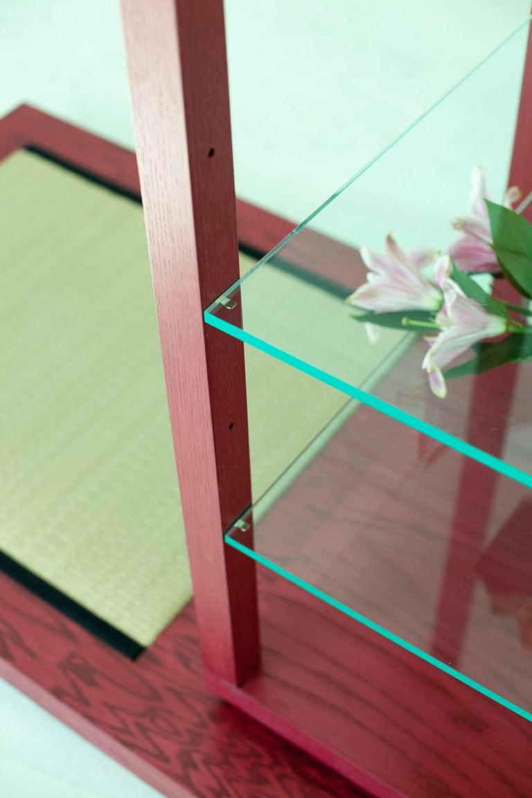 Room for Ritual, Meditation Shrine with Shelves, Tatami Mat and Handmade Rug 4